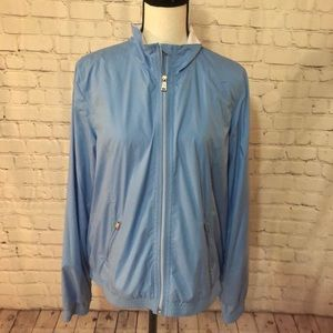 NWT Ralph Lauren active blue zip front jacket